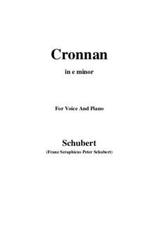 Cronnan, D.282: E minor by Франц Шуберт