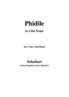 Phidile, D.500: A flat Major by Франц Шуберт