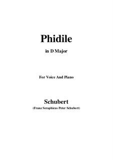 Phidile, D.500: D Major by Франц Шуберт