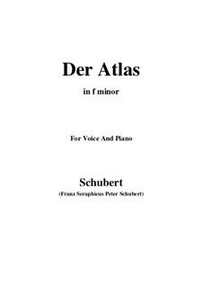 No.8 Атлас: Для голоса и фортепиано (F minor) by Франц Шуберт
