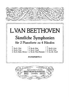 Вся симфония: Версия для двух фортепиано в четыре руки – партия второго фортепиано by Людвиг ван Бетховен