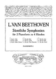 Вся симфония: Версия для двух фортепиано в четыре руки – партия первого фортепиано by Людвиг ван Бетховен