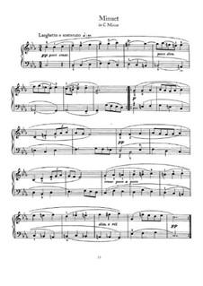 Менуэт до минор: Для фортепиано by Иоганн Себастьян Бах