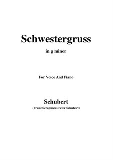 Schwestergruss (Sister's Greeting), D.762: G minor by Франц Шуберт