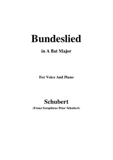 Bundeslied (Song of Fellowship): A flat Major by Франц Шуберт
