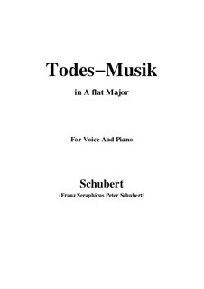 Todesmusik (Death Music), D.758 Op.108 No.2: A flat Major by Франц Шуберт