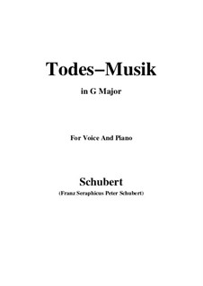 Todesmusik (Death Music), D.758 Op.108 No.2: G Major by Франц Шуберт