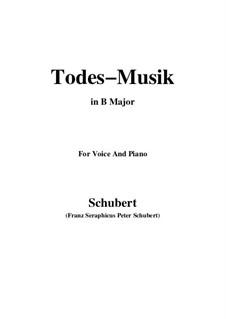 Todesmusik (Death Music), D.758 Op.108 No.2: B Major by Франц Шуберт