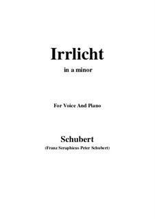 No.9 Блуждающий огонёк: Для голоса и фортепиано (A minor) by Франц Шуберт