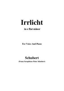 No.9 Блуждающий огонёк: For voice and piano (e flat minor) by Франц Шуберт