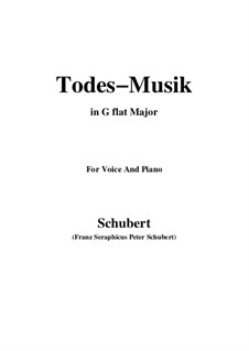 Todesmusik (Death Music), D.758 Op.108 No.2: G flat Major by Франц Шуберт