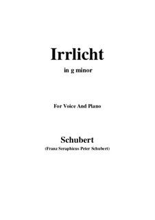 No.9 Блуждающий огонёк: Для голоса и фортепиано (G minor) by Франц Шуберт