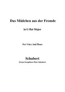 Das Mädchen aus der Fremde (The Maiden from a Strange Land), D.252: G flat Major by Франц Шуберт