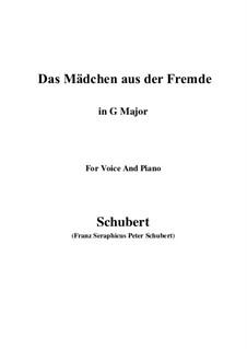 Das Mädchen aus der Fremde (The Maiden from a Strange Land), D.252: G Major by Франц Шуберт