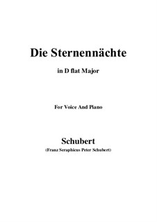Die Sternennächte (The Starry Nights), D.670 Op.165 No.2: D flat Major by Франц Шуберт