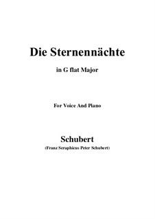 Die Sternennächte (The Starry Nights), D.670 Op.165 No.2: G flat Major by Франц Шуберт