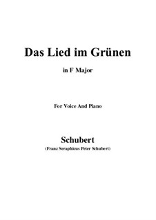 Das Lied im Grünen (Song in the Country), D.917 Op.115 No.1: Фа мажор by Франц Шуберт