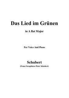 Das Lied im Grünen (Song in the Country), D.917 Op.115 No.1: A flat Major by Франц Шуберт