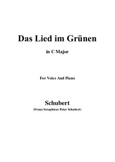 Das Lied im Grünen (Song in the Country), D.917 Op.115 No.1: До мажор by Франц Шуберт