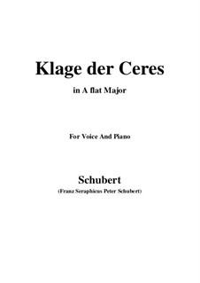 Klage der Ceres (Lament of Ceres), D.323: A flat Major by Франц Шуберт