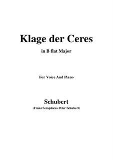 Klage der Ceres (Lament of Ceres), D.323: B flat Major by Франц Шуберт