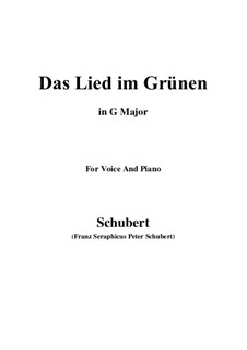 Das Lied im Grünen (Song in the Country), D.917 Op.115 No.1: G Major by Франц Шуберт