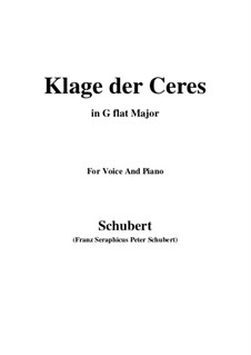 Klage der Ceres (Lament of Ceres), D.323: G flat Major by Франц Шуберт