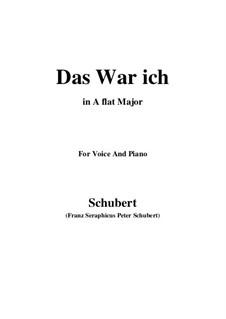 Das war ich (That was I), D.174: A flat Major by Франц Шуберт