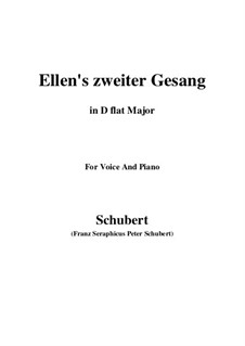 Ellen's Song II, D.838 Op.52 No.2: For voice and piano (D flat Major) by Франц Шуберт
