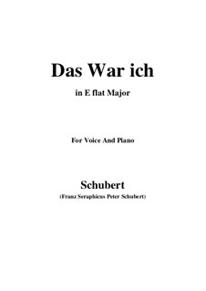 Das war ich (That was I), D.174: E flat Major by Франц Шуберт