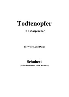 Todtenopfer, D.101: C sharp minor by Франц Шуберт