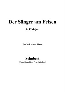 Der Sänger am Felsen (The Singer on the Rock), D.482: D minor by Франц Шуберт