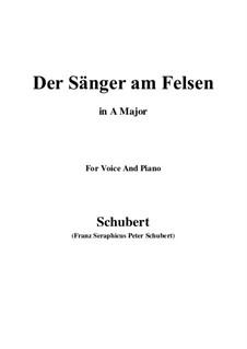 Der Sänger am Felsen (The Singer on the Rock), D.482: F sharp minor by Франц Шуберт