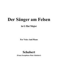 Der Sänger am Felsen (The Singer on the Rock), D.482: E flat minor by Франц Шуберт