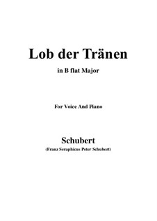 Похвала слезам, D.711 Op.13 No.2: Для голоса и фортепиано (B Flat Major) by Франц Шуберт