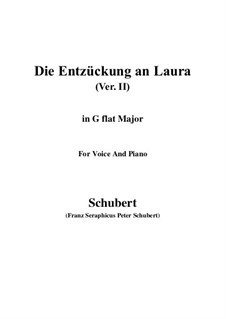 Die Entzückung an Laura (Enchanted by Laura), D.390: G flat Major by Франц Шуберт