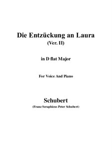Die Entzückung an Laura (Enchanted by Laura), D.390: D flat Major by Франц Шуберт