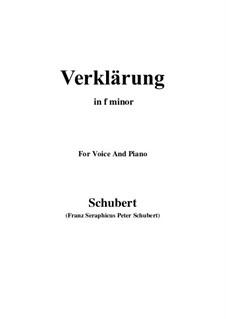 Verklärung (Transfiguration), D.59: F minor by Франц Шуберт