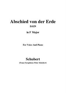 Abschied von der Erde (Farewell to the Earth), D.829: Фа мажор by Франц Шуберт