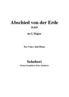 Abschied von der Erde (Farewell to the Earth), D.829: G Major by Франц Шуберт