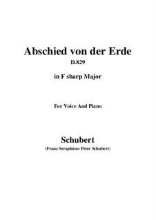 Abschied von der Erde (Farewell to the Earth), D.829: F sharp Major by Франц Шуберт