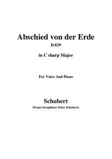 Abschied von der Erde (Farewell to the Earth), D.829: C sharp Major by Франц Шуберт