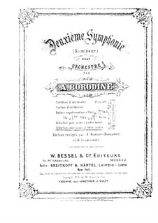 Симфония No.2 си минор: Для фортепиано by Александр Бородин