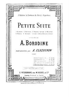 Маленькая сюита: Для двух фортепиано в четыре руки – Партия первого фортепиано by Александр Бородин