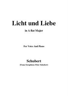 Licht und Liebe (Light and Love), D.352: A flat Major by Франц Шуберт