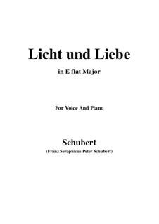 Licht und Liebe (Light and Love), D.352: E flat Major by Франц Шуберт