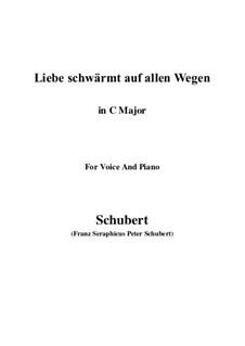 Liebe schwärmt auf allen Wegen: До мажор by Франц Шуберт