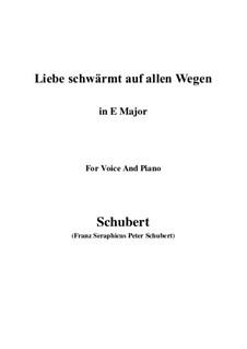Liebe schwärmt auf allen Wegen: E Major by Франц Шуберт