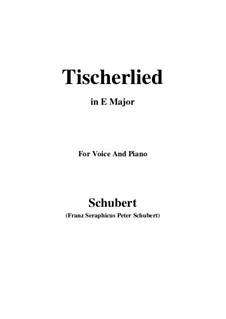 Tischlerlied (Carpenter's Song), D.274: E Major by Франц Шуберт
