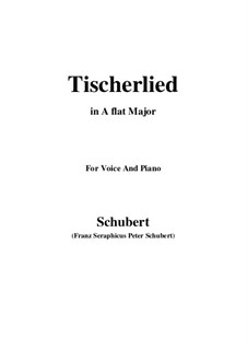 Tischlerlied (Carpenter's Song), D.274: A flat Major by Франц Шуберт